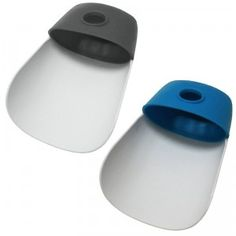 A set of two faucet extenders that help little kids wash their hands.