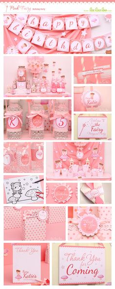 Pink Fairy Birthday Party Theme ♥  Designs & Party Styling by LeeLaaLoo ♥  Shop Here: https://www.etsy.com/shop/LeeLaaLoo/search?search_query=b3&order=date_desc&view_type=gallery&ref=shop_search