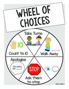 *FREEBIE* Wheel of Choices posters for your classroom. 5 different color options. Perfect for PBIS or other positive behavior schools.