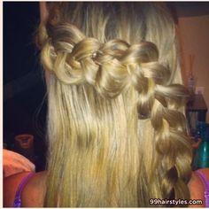 blonde braid hairstyle idea - 99 Hairstyles Ideas