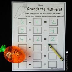 crunch the numbers subtraction 2