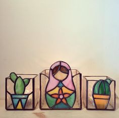 Stained glass votives