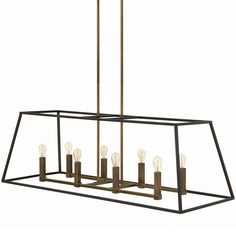 Large Sleek Minimalist Island Chandelier