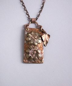Copper necklace handmade metalwork coppery by copperryfields, $50.00