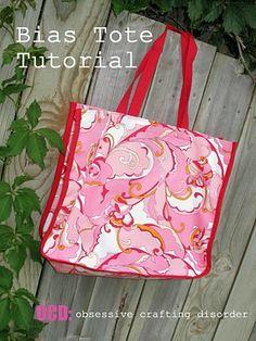 ocd: obsessive crafting disorder: Bag Lady Week- Bias Tote Bag Tutorial