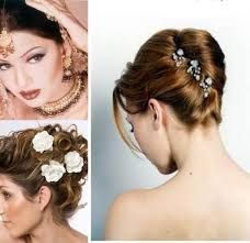 Image result for open hairstyles for indian wedding