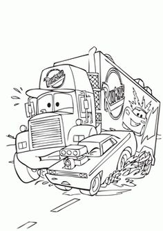 Disney Cars Mack The Truck Car Transporter Coloring Pages : Best Place to Color<br> Monster Truck Coloring Pages, Race Car Coloring Pages, Spring Coloring Pages, Free Adult Coloring Pages, Free Coloring Sheets, Cartoon Coloring Pages, Coloring Pages To Print, Printable Coloring Pages, Coloring Books