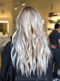 Bright blonde balayage highlights