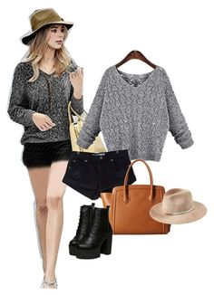 Women Grey Sweater with long sleeves by summerlee-781 on Polyvore featuring Amuse Society, Furla and Eugenia Kim