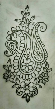 What Everybody Is Saying About Embroidery Designs by Hand Easy Simple Is Wrong and Why - Simple Hand Embroidery Designs, Border Embroidery Designs, Hand Embroidery Stitches, Ribbon Embroidery, Beaded Embroidery, Machine Embroidery, Kashida Embroidery, Modern Embroidery, Motif Floral