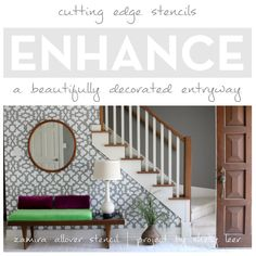 Stencils Enhance A Beautifully Decorated Entryway