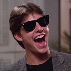 Celebrity Tom Cruise Risky Business Black Wayfarer Sunglasses