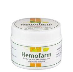 Hemofarm - Tratament hemoroizi interni si externi. Fisuri anale. Coconut Oil, Jar, Food, Plant, Essen, Meals, Yemek, Jars, Eten