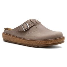 a3a3bb76372 Cultivate comfort in the Haflinger Vision slide from Model Shoes Berkeley.  The oiled nubuck upper of this cozy slip-on shoe offers polished style.