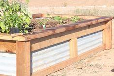 How to Build Raised Garden Beds With Corrugated Metal Metal Raised Garden Beds, Raised Garden Bed Plans, Building Raised Garden Beds, Raised Flower Beds, Raised Beds, Raised Gardens, Garden Bed Layout, Pergola, Garden Boxes