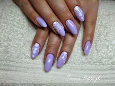 Znalezione obrazy dla zapytania paznokcie żelowe migdałki fioletowe