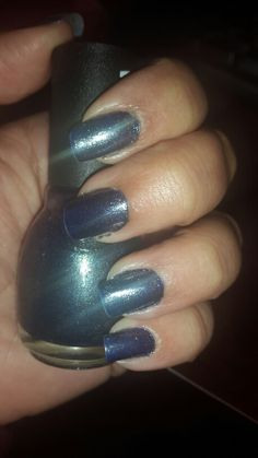 Royal blue with charcoal glitter