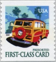 2001 15c Woody Wagon Scott 3522 Mint F/VF NH  www.saratogatrading.com