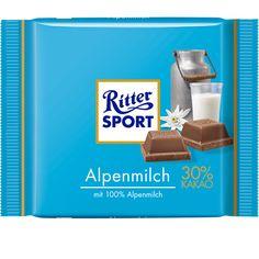RITTER SPORT Alpenmilch Schokolade