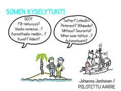 Somen kyselytunti eli kysy mitä vain sosiaalisesta mediasta Piilotetun aarteen Johanna Janhoselta