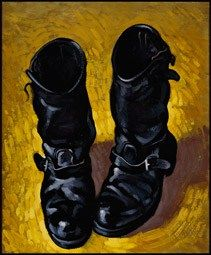 Painting by Paul Simonon of The Clash Toast Of London, Boots 2014, Paul Simonon, Mick Jones, Joe Strummer, Motorcycle Style, Motorcycle Fashion, Engineer Boots, Its Nice That