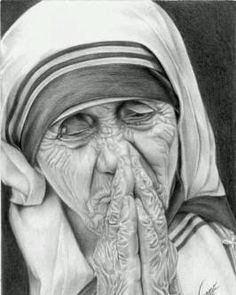 Mother Theresa...but know that she had bad days and made mistakes too. Leticia said so.