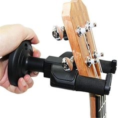 Yamde Guitar Hanger Auto Lock Rack Hook Holder Wall Mount Bracket Home Studio Display Fits All Size Guitar Acoustic Bass Mandolin Banjo Easy Installation Compact plastic black -- Click on the image for additional details.Note:It is affiliate link to Amazon. #handsome