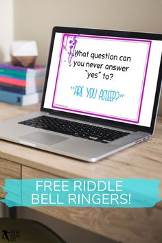 Are you looking for some gripping ways to settle your students really quickly at the start of your lesson? Here is a week's worth of riddles you can use as bell ringers / lesson starter activities for teens! You can get them for free right now #distancelearning #riddles #teacherfreebies #bellringers High School Classroom, High School Students, Classroom Ideas, Teacher Freebies, Teacher Resources, Teaching Ideas, Secondary Teacher, Bell Ringers, Activities For Teens