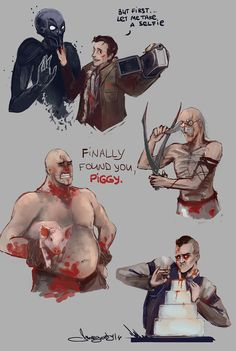 Outlast doodles by morgenty on deviantART.                                              Eddie and the cake though~
