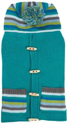 East Side Collection Bright Stripe Sweater Vest for Dogs 12 Small Teal ** Details can be found by clicking on the image.