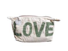Ali Lamu Toiletry Bag LOVE Army Green