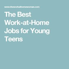 best first jobs for a 16 year old