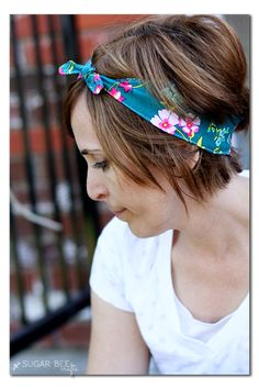 how to make a knot tie fabric headband -- @sugarbeecrafts @pellon @joannstores #sewyourstyle