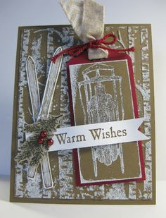 Warm Winter Wishes Card - Winter Wishes & Gorgeous Grunge stamp sets - SU - Christmas, winter, masculine (by Barb Mann)