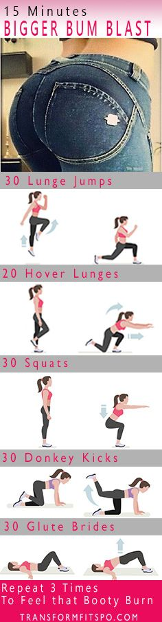 Repin and share if you loved this big bum exercises workout!