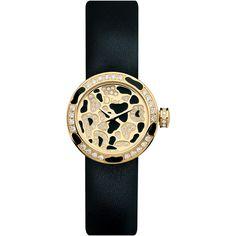 LA MINI D DE DIOR Ø 19 mm, movimento quarzo featuring polyvore fashion jewelry watches dior