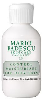 Control Moisturizer For Oily Skin from Mario Badescu Skin Care via mariobadescu.com. I got this as a free sample, and it works really well at keeping oil down during the day.