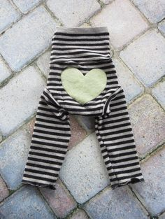 Size Small Upcycled Wool Soaker/Shorties/Longies with Added Doubler in Wetzone/Stripes with a Heart Applique on Etsy, $24.00