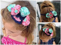 No-Sew Fabric Flower Headband ~ Dawn Warnaar for Silhouette
