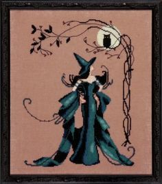 Minerva is the title of this cross stitch pattern from Nora Corbett's Bewitching Pixie series.