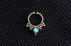 Turquoise Fake Septum Ring Septum ring tribal by jewellryhubs