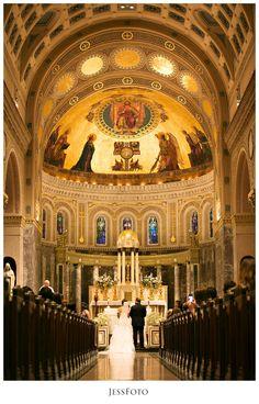 St. Catherine's of Genoa : Caroline + John : Ceremony