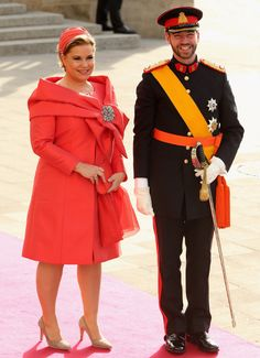 Luxembourg Wedding: The Grand Ducal Family....Posted on October 20, 2012 by HatQueen.....Mother of the groom Grand Duchess Maria Teresa with her son Prince Guillaume.