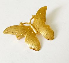 ▴△▴Vintage Gold Butterfly Polka Dots Brooch Lapel Pin 1970s • Lepidopterist, Moths, Costume Jewelry, Mothers Day, Wedding • Granny Chic, Church Lady, Mothers Day, Elegant Gift • Openwork Design, Collectible Jewelry, Silver Tone, Teen Girl, Yellow Gold, Bug Lovers▴△▴  Butterflies symbolise change, renewal, color, transformation, life milestones, moving through different life cycles, grace and beauty, divine femininity, magic of believing and healing. This petite elegant brooch represents so…