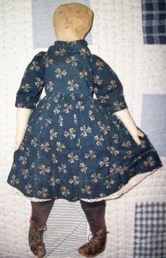 antique american cloth doll
