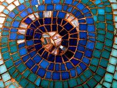 glass mosaic tabletop
