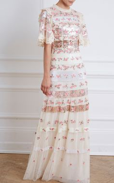 Shop for sophisticated evening wear for any occasion at Moda Operandi. View the collection of evening gowns, jumpsuits & dresses. White Embroidered Dress, Embellished Dress, Beautiful Maxi Dresses, Beautiful Gowns, Dressy Dresses, Event Dresses, Special Dresses, Special Occasion Dresses, Evening Outfits