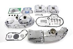 Chrome Engine Dress Up Kit For XL Sportster 1991-1993 (NEW) Bobber Chopper #VTwinManufacturing