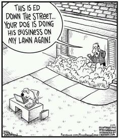 weird cartoons - Google Search my puppy does her business on my mother in laws lawn lol lol