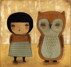 My Owl Barn: Danita Art + Free Paper Doll Owl